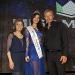 Da sinistra Maria Rosaria De Simone direttrice artistica, Giada Tropea Miss Mondo Italia 2016 e Kaspar Capparoni