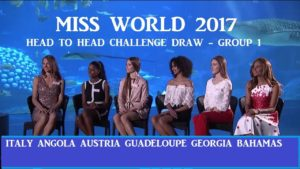 Miss World 2017 - Head To Head Challenge Draw