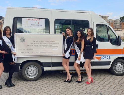 Miss World dona un pulmino attrezzato per il trasporto di persone diversamente abili a Palermo.