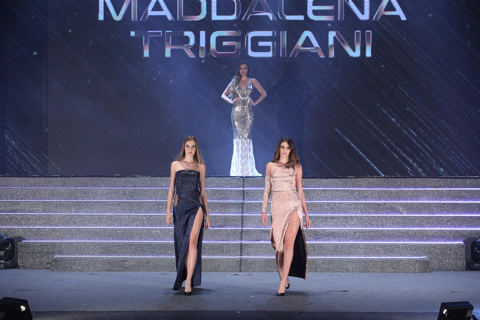 Sfilata per Maddalena Triggiani nella serata finale di Miss Mondo Italia
